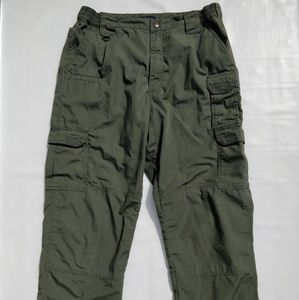 5.11 Tactical Series Men's 36/32 Green Cargo Pants